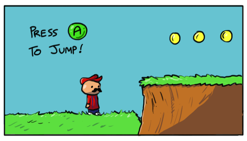 Press A to jump